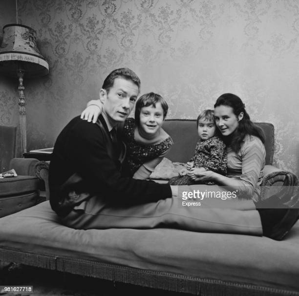 English jockey Lesley Piggott with his wife Susan and their daughters Maureen and Tracy UK 8th November 1967