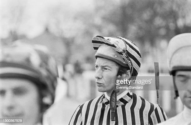 English jockey Lester Piggott, UK, 3rd April 1973.