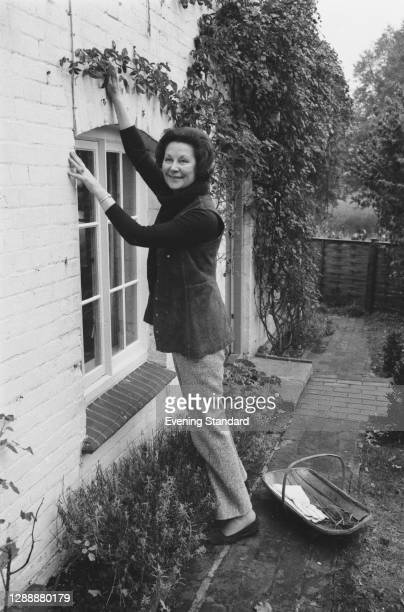 English journalist and author Anne Scott-James , UK, November 1971.