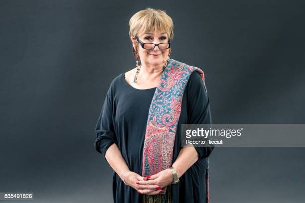 English journalist and broadcaster Jenni Murray attends a photocall during the annual Edinburgh International Book Festival at Charlotte Square...