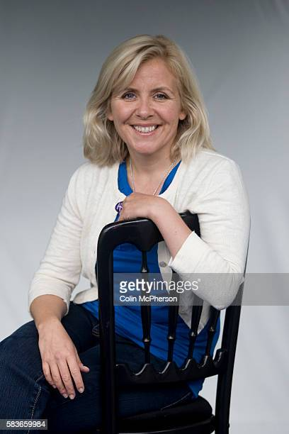 English journalist and novelist Lucy Hawking daughter of theoretical physicist Stephen Hawking at the Edinburgh International Book Festival where she...
