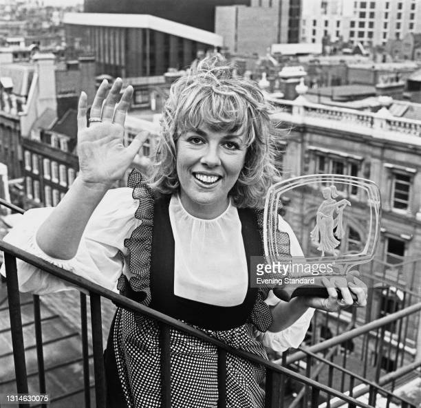 English journalist and television presenter Esther Rantzen with her Female Personality of the Year award from the Royal Television Society , UK, 29th...