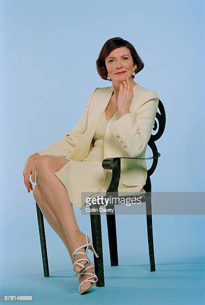 English journalist and television presenter Joan Bakewell UK 7th March 1996 A photoshoot for a 'Dressed to Kill' magazine feature