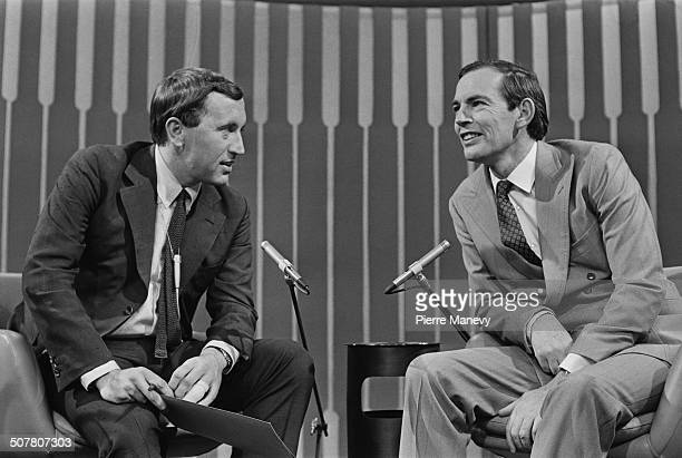 English journalist comedian writer and television host David Frost interviews South African cardiac surgeon Christiaan Barnard 10th October 1969