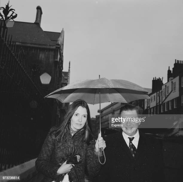English journalist television presenter and Labour Party Peer Joan Dawson Bakewell Baroness Bakewell walking to court for a hearing on her divorce...
