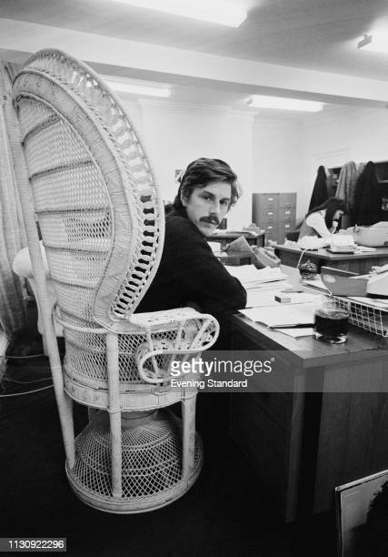 English journalist, writer, publicist and record producer Derek Taylor at Apple Corps office on Savile Row, London, UK, 11th January 1969.