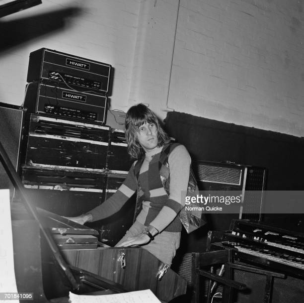 English keyboard player Keith Emerson of progressive rock band Emerson, Lake & Palmer , UK, 7th October 1971.