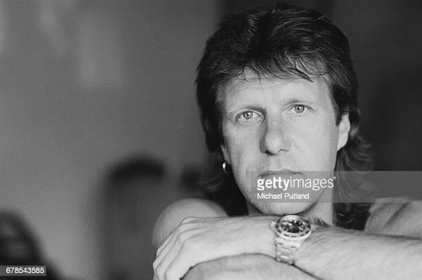 English keyboard player Keith Emerson , UK, May 1989.
