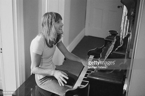 English keyboard player Keith Emerson working at home, 4th September 1971.