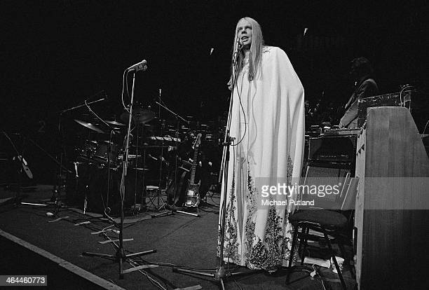 English keyboard player Rick Wakeman at the Royal Festival Hall before a performance with the London Symphony Orchestra London 18th January 1974