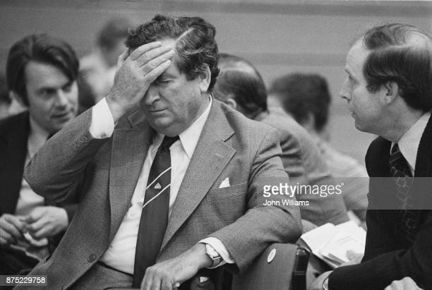 English Labour Party politician and Chancellor of the Exchequer Denis Healey at the Labour Party Conference in Brighton on 3rd October 1977
