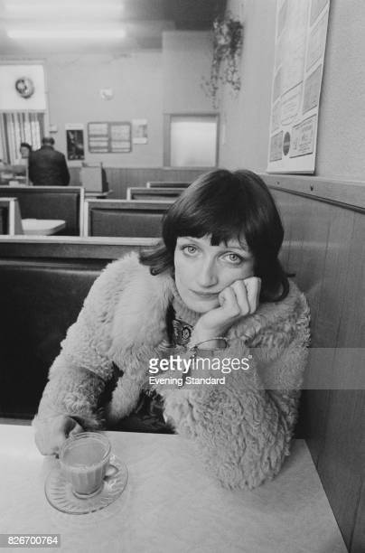 English Labour Party politician Tessa Jowell having a cup of tea in a cafe 24th February 1978