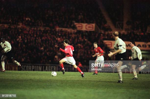 English League Cup Match Middlesbrough 2 1 Liverpool held at Riverside Stadium 8th January 1997