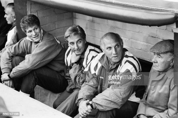 English League Division One match at Anfield. Liverpool 2 v Wimbledon 3. Liverpool caretaker manager Ronnie Moran in the dug out during the match...