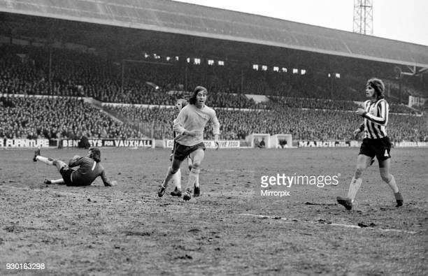 English League Division One match at Bramall Lane Sheffield United 0 v Arsenal 5 Celebrateions for Charlie George after he scored his first goal 29th...
