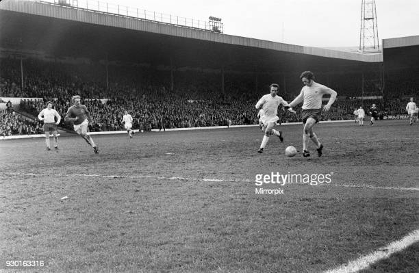 English League Division One match at Elland Road Leeds United 1 v West Bromwich Albion 2 Jeff Astle touches into an empty net and so scores the goal...