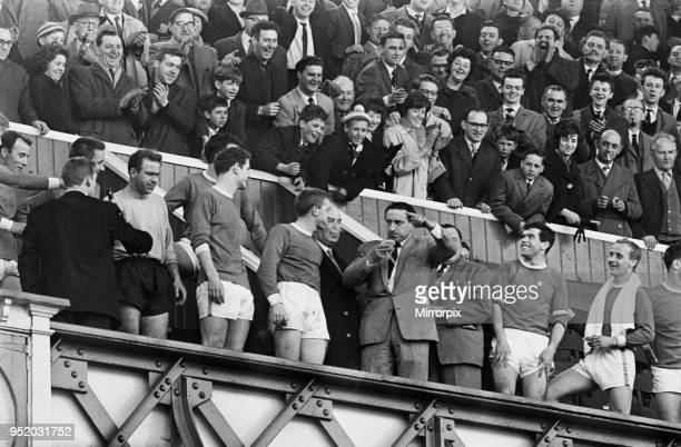 English League Division One match at Goodison Park Everton 4 v Fulham 1 The win gave Everton the title on the last day of the season Everton players...