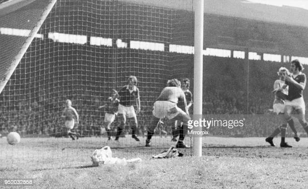 English League Division One match at Old Trafford Manchester United 0 v Manchester City 1 Denis Law scores the game's only goal a brilliant piece of...