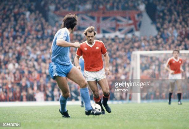 English League Division One match at Old Trafford. Manchester United 1 v Stoke City 0. Ray Wilkins of United, 9th October 1982.
