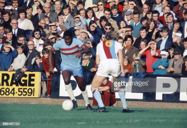 English League Division One match at Selhurst Park Crystal Palace 0 v West Ham United 3 West Ham's Clyde Best on the ball 30th October 1971
