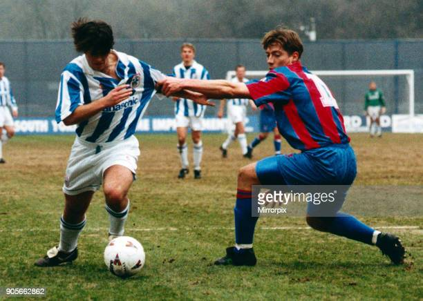 English League Division One match at the Alfred McAlpine Stadium Huddersfield Town AFC 1 3 Grimsby Town FC Ben Thornley 24th March 1996