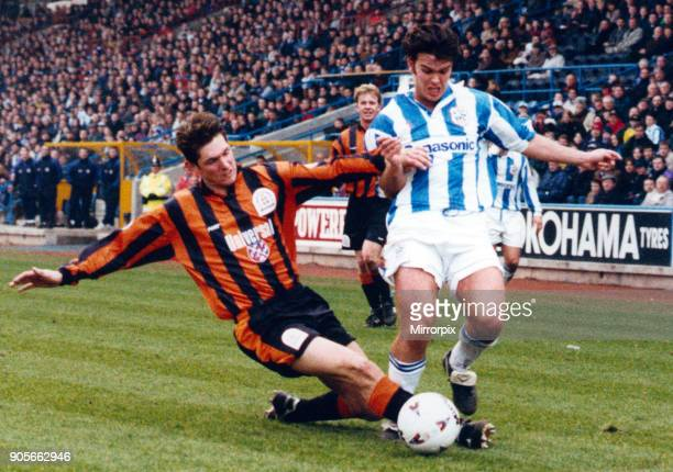 English League Division One match at the Alfred McAlpine Stadium. Huddersfield Town A.FC 1 - 0 Luton Town FC Ben Thornley. 9th March 1996.