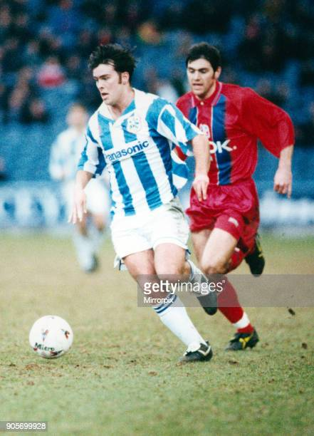 English League Division One match at the Alfred McAlpine Stadium Huddersfield Town AFC 3 0 Crystal Palace Ben Thornley 24th February 1996