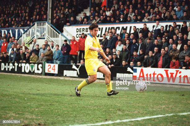 English League Division One match at the Baseball Ground Huddersfield Town AFC 2 3 Derby County FC Ben Thornley 2nd March 1996