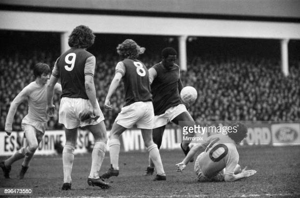 English League Division One match at Upton Park West Ham United 1 v Leeds United 1 West Ham's Clyde Best on the ball 14th April 1973