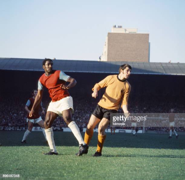 English League Division One match at Upton Park. West Ham United 1 v Wolverhampton Wanderers 0. West Ham's Clyde Best, 23rd October 1971.