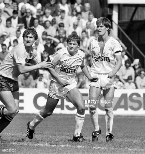 English League Division One match at Vicarage Road Watford 1 v Tottenham Hotspur 0 Spurs defenders Gary Mabbutt and Richard Gough in action against...