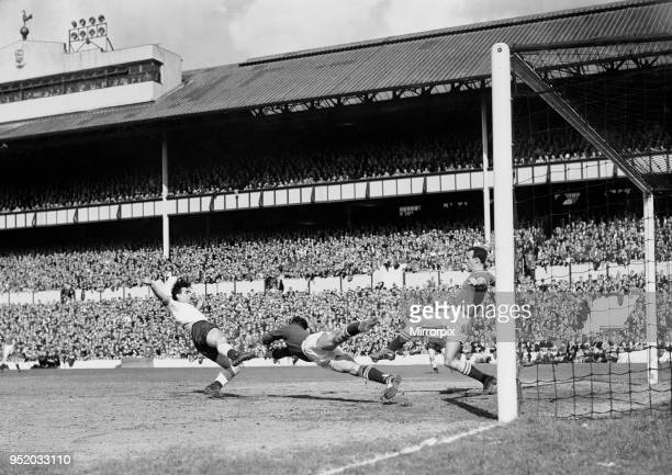 English League Division One match at White Hart Lane Tottenham Hotspur 0 v Chelsea 1 Chelsea goalkeeeper Peter Bonetti dibves at the feet of Spurs...
