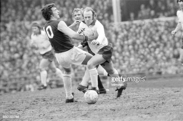English League Division One match League Division One match at the Baseball Ground Derby County 1 v West Ham United 0 Archie Gemmill of Derby battles...