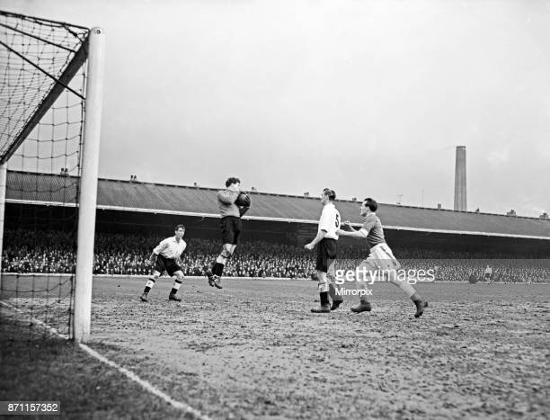 English League Division Two match at Filbert Street. Leicester City 4 v Swansea City 1. Swansea goalkeeper gathers the ball watched by Leicester's...