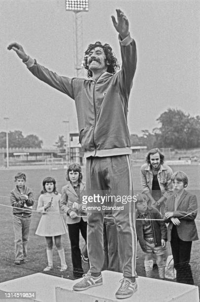 English long distance runner David Bedford competes in the Nationwide AAA Championships at Crystal Palace in London, UK, July 1973.