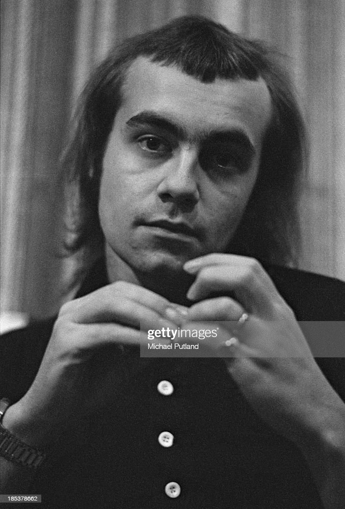 English lyricist Bernie Taupin, 1st November 1973. Taupin is best known for writing the lyrics to the songs of Elton John.