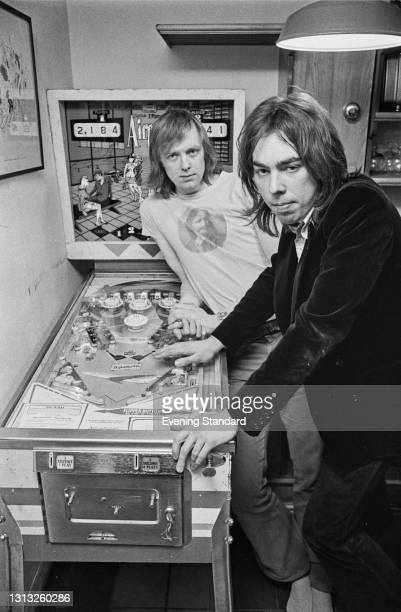 English lyricist Tim Rice with composer Andrew Lloyd Webber, UK, 7th February 1973. Their musical 'Joseph and the Amazing Technicolor Dreamcoat'...