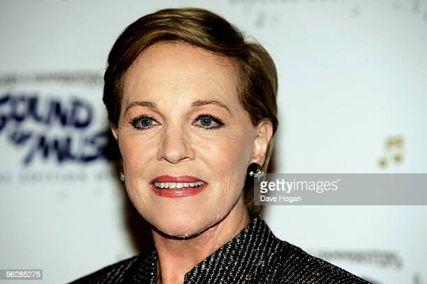 English Mary Poppins actress Dame Julie Andrews arrives to discuss her previous film roles at the NFT to promote todays launch of The Sound Of Music...