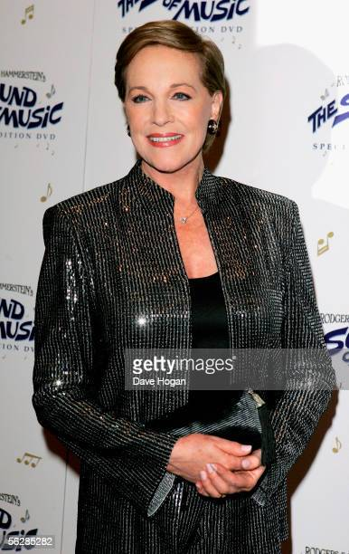 English Mary Poppins actress Dame Julie Andrews arruives to discuss her previous film roles at the NFT to promote todays launch of The Sound Of Music...