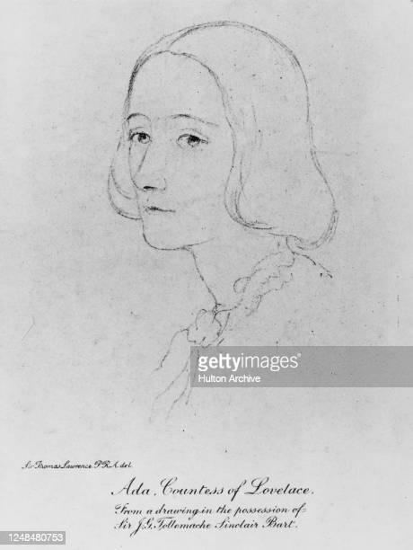 English matemathician and writer Ada Lovelace , circa 1840.