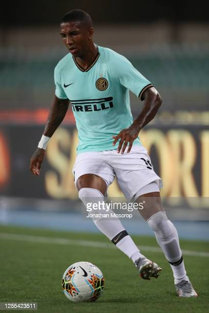 English midfielder Ashley Young of Internazionale drives the ball during the Serie A match between Hellas Verona and FC Internazionale at Stadio...