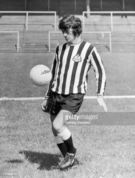 English midfielder Terry Hibbitt of Newcastle United F.C., in training, 27th July 1972.