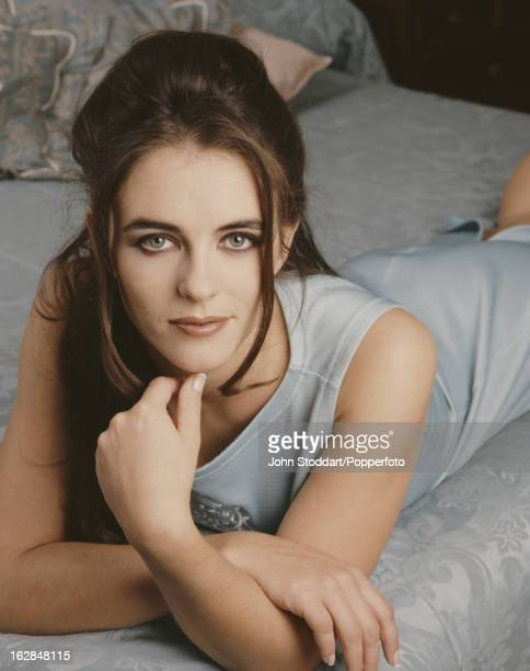 English model and actress Elizabeth Hurley posed in London in 1992