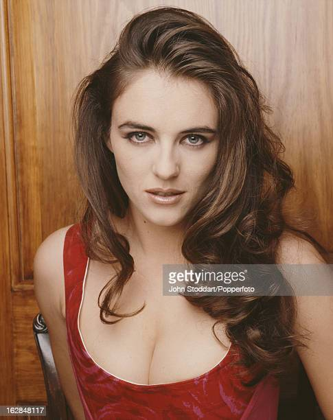 English model and actress Elizabeth Hurley posed in London in 1992.