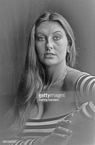 English model and actress Marilyn Cole, UK, 26th May 1973. She was Playboy magazine's Playmate of the Month for January 1972.