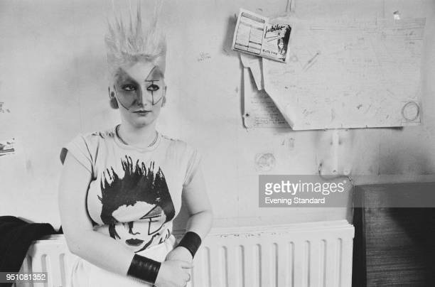 English model and actress Pamela Rooke also known as Jordan smoking a cigarette UK 28th February 1978