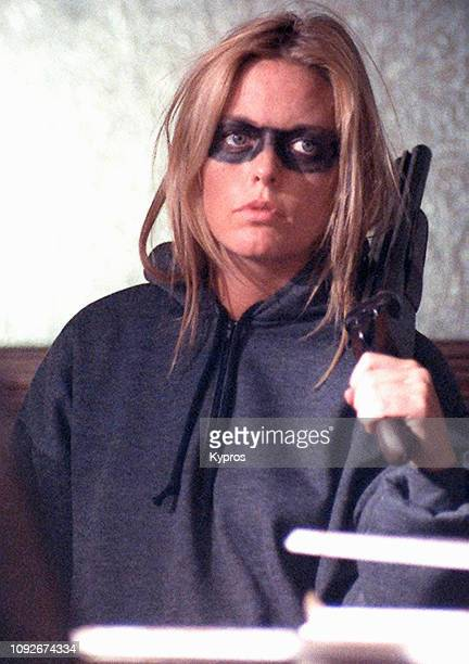 English model and actress Patsy Kensit films the thriller 'Bitter Harvest', circa 1992.