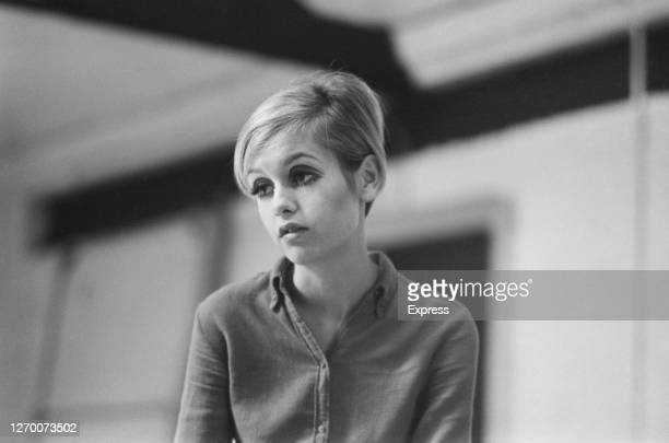 English model and actress Twiggy, September 1966.