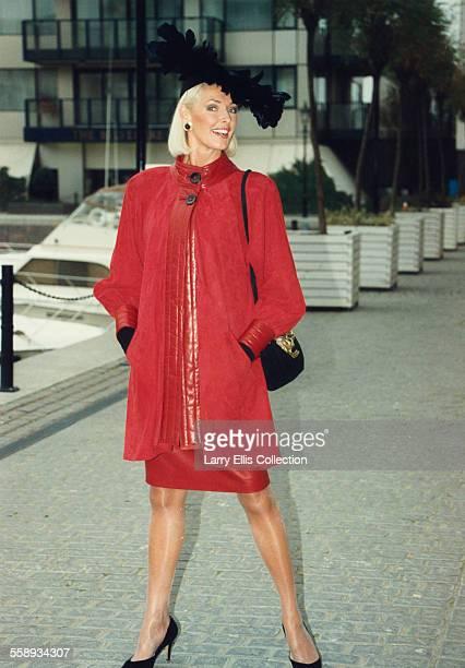 English model and fitness expert Diana Moran aka 'The Green Goddess' 1989