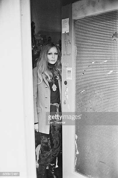 English model and photographer Pattie Boyd leaving the home she shares with George Harrison, Esher, 13th March 1969.
